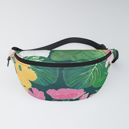 Stylish exotic floral and foliage design Fanny Pack