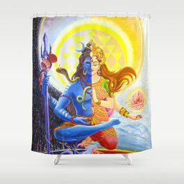 Shiva and Shakti Shower Curtain