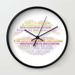 Polyglots are much sexier (mug) Wall Clock