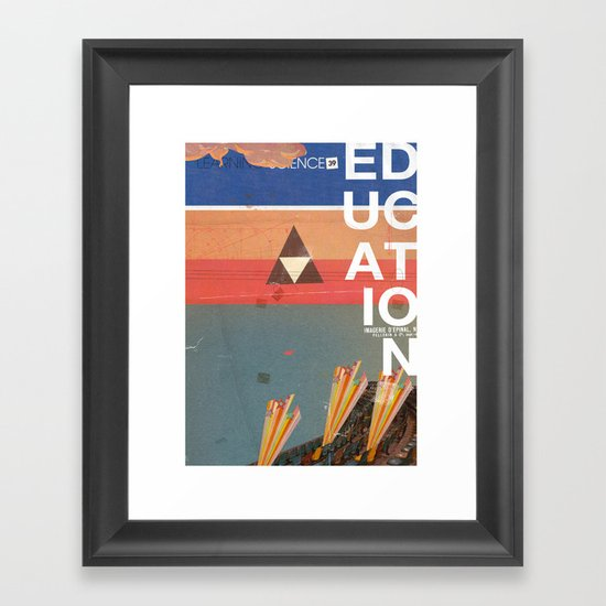 Education - prepare for your mind to be blown Framed Art Print