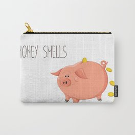 Money smells - Art print with piggy bank Carry-All Pouch