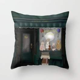 the little teddy store Throw Pillow