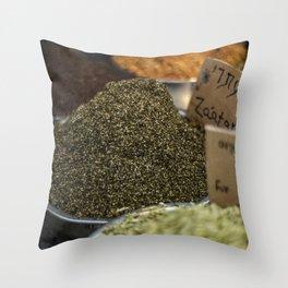 Za'atar at Mahane Yehuda Market Throw Pillow