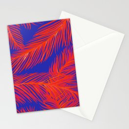 Tropical Palm Print - Red and Blue Stationery Cards