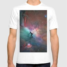 Nebulous Surfing SMALL Mens Fitted Tee White