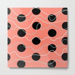 Coral dots Metal Print