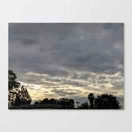 Cloudy Sunset Canvas Print
