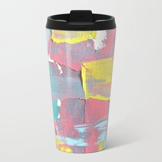 Abstract texture Metal Travel Mug