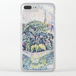 Paul Signac - The Garden Of Vert-Galant Clear iPhone Case