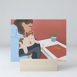 Boyfriend, Cat & Scrabble Mini Art Print