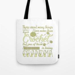 Crochet Grandma Tote Bag