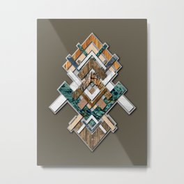 Abstract geometric texture art Metal Print