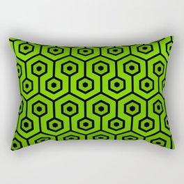 Geometric Design 1 (Lime) Rectangular Pillow