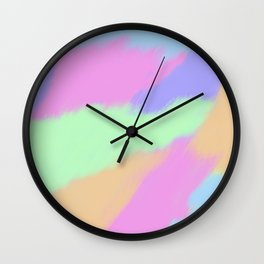 Watercolor pastel Wall Clock