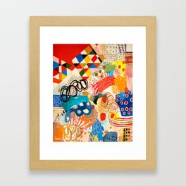 Wallpaper and Diamonds Part I Framed Art Print