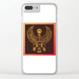 EGYPTIAN GOD HORUS Clear iPhone Case
