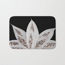 Gray Agave with Rose Gold Glitter #2 #shiny #tropical #decor #art #society6 Bath Mat