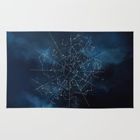 celestial Area & Throw Rugs featuring Celestial Map by Rose's Creation