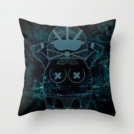 Blueprint Wise (background) Matryoshka / Nesting Doll Throw Pillow