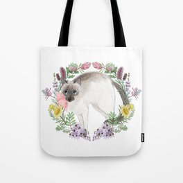 Pixie the Chocolate Siamese Cat Tote Bag