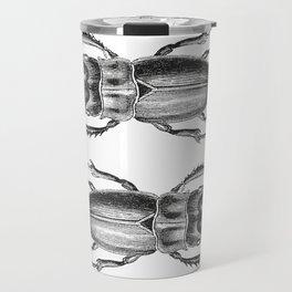Vintage Beetle black and white Travel Mug