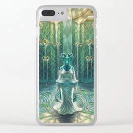 Elemental Temple - Water Clear iPhone Case