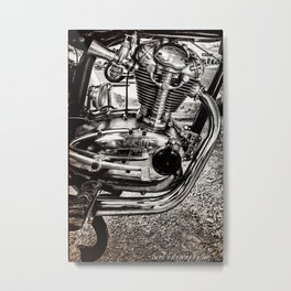 Vintage Motorcycle Engine Metal Print