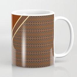 Brown Abstract Geometric Pattern Coffee Mug