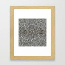 Facing Granite Pattern Framed Art Print