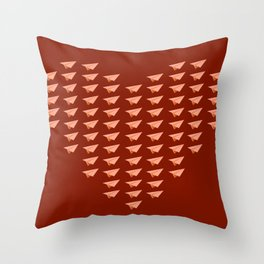 Pap Planes in Red Throw Pillow