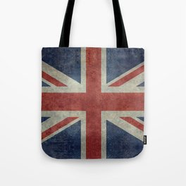 UK Flag, Dark grunge 1:2 scale Tote Bag