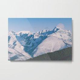 Snow Capped Peaks Metal Print