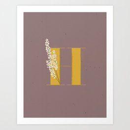 H for Heather Art Print