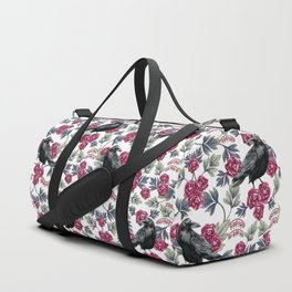 Crows, Bleeding Hearts & Roses Floral/Botanical Pattern Duffle Bag
