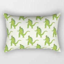 Godzilla pattern Rectangular Pillow