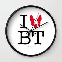 I ♥ BOSTON TERRIER Wall Clock