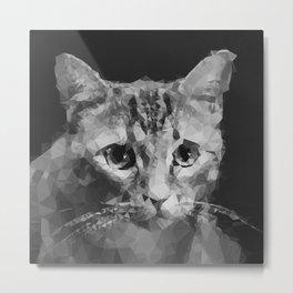 Cat Polymer Poly Geometric Kitten Lover Gift Metal Print