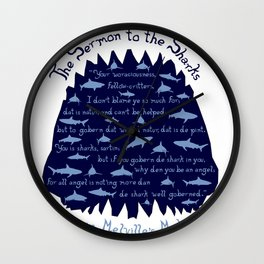 The Sermon to the Sharks Wall Clock