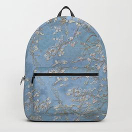 3d, wallpaper, background in Van Gogh style, Almond Blossoms, seamless Backpack