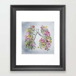 Floral Anatomy Lungs Framed Art Print