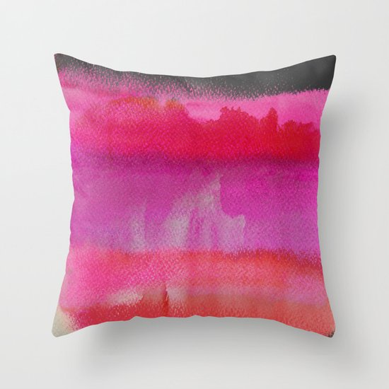 Red on Pink Throw Pillow