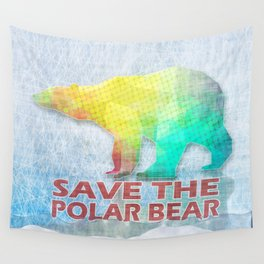 SAVE THE POLAR BEAR Wall Tapestry