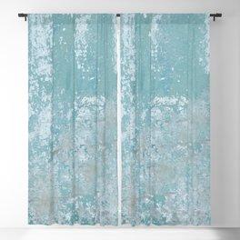 Galvanized Vintage Metal Blue Blackout Curtain