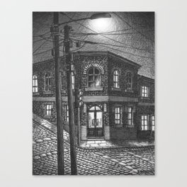 Downhill street Canvas Print