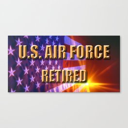 USAF Retired Canvas Print