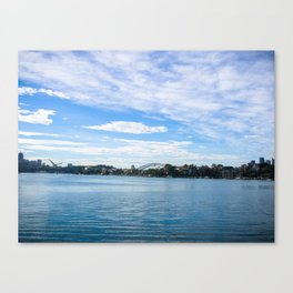 Sydney Harbour And Bridge Canvas Print