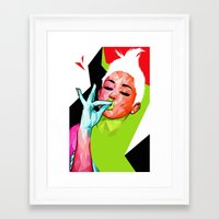 "miley Framed Art Prints featuring ""MILEY"" by DE'TALE"