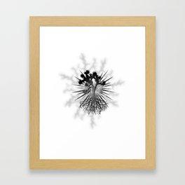 Joshua Tree Lightning by CREYES Framed Art Print