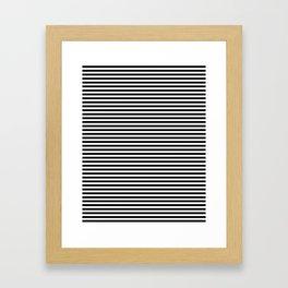 Horizontal Stripes Framed Art Print