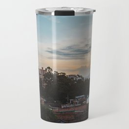 Cityscape of the barrio of El Poblado in Medellín, Colombia Travel Mug